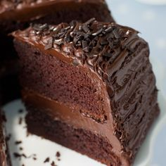 A Rich Recipe for dark chocolate fudge cake, this is a decadent dessert for and special occasion.