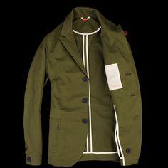 Oliver Spencer Portland Jacket in Rockham Green