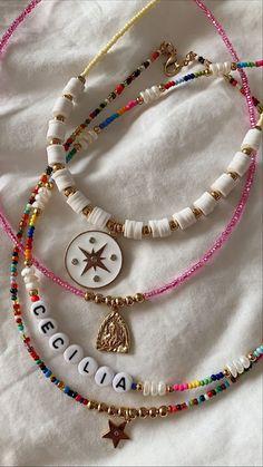 Trendy Jewelry, Summer Jewelry, Cute Jewelry, Diy Jewelry, Jewelery, Jewelry Accessories, Fashion Jewelry, Jewelry Making, Bead Jewellery