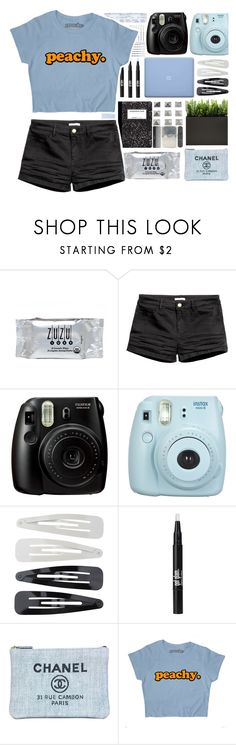 """Peachy."" by stelbell ❤ liked on Polyvore featuring INC International Concepts, Fujifilm, Forever 21 and Chanel"