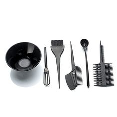 Hair Dye Set, Tinting Bowl And Tinting Brush Salon Sundries -- Click image for more details. Hair Color Brush, Hair Dye Colors, Barber Shop Interior, Hairstylist Quotes, Colored Hair Tips, Hair Color Techniques, Hair Quotes, Bleached Hair, Hair Tools
