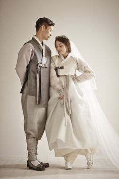 Find Out Full Gallery of Awesome Hanbok Wedding Dress - Displaying Image 2 of 15 Korean Traditional Clothes, Traditional Fashion, Traditional Dresses, Asian Wedding Dress, Korean Wedding, Wedding Dresses, Korean Dress, Korean Outfits, Korea Fashion