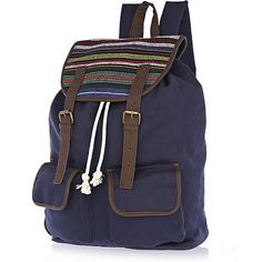 Blue blanket stripe rucksack