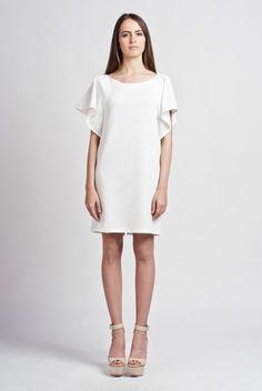 The dress has romantic frills instead of regural by RETROLOGICEU