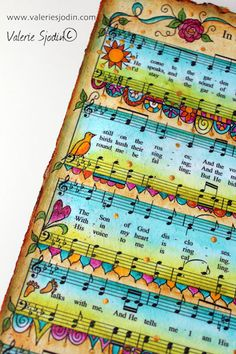 The Mystery of Music and Memory - Hymn Art, Scripture Art, Bible Art, Sheet Music Crafts, Sheet Music Art, Music Music, Book Page Art, Book Art, Bible Doodling
