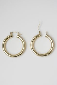 2f9d4aa6f Bold Chunky Hoop Earrings My fav Gold hoops ever - MUST HAVE Simple Earrings,  Gold
