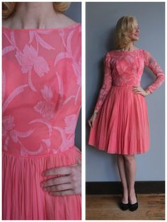A personal favorite from my Etsy shop https://www.etsy.com/listing/521567732/1950s-dress-sweet-sugar-silk-chiffon