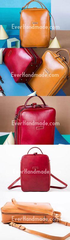 Genuine Leather Handbag Backback Bag Shoulder Bag Purse For Women