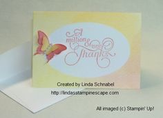 Introducing the new Watercolor Wonder Designer Note Cards & envelopes.  #Stampin'Up!  #cards