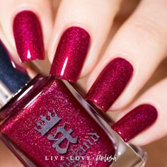 A-England Rose Bower is a rich red polish with subtle prismatic shimmer. This nail polish is designed by Adina, creator of A-England. Made in the United Kingdom