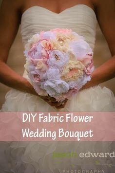 DIY bouquet! fabric flowers