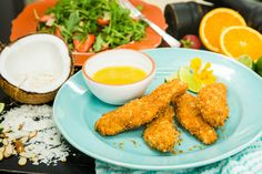 Chicken packed with the flavors of curry, coconut, and pepper! Chef Sunny Anderson's Curry Coconut Chicken Tenders! For more tasty recipes tune in to Home & Family weekdays at 10a/9c on Hallmark Channel!
