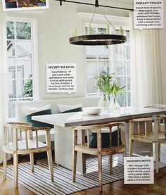 decorology: Quietly stunning: Dining rooms with glowing repose
