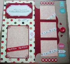 Premade Scrapbook page for Valentine or Love by BennBooCreations