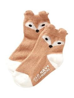 Non-Skid Critter Socks for Baby | Old Navy