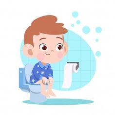 Kid Boy Pooping In Toilet Illustration Funny Kids, Cute Kids, English Activities For Kids, Special Educational Needs, Boy Illustration, Potty Training Tips, Bedtime Routine, Reggio Emilia, School Boy