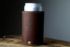 Gift for the beer drinker - ...Goldman Leather Beer Koozie