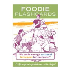 FOODIE FLASHCARDS | Board Game, Family Game, Chef, Cooks, Recipe, Fun | UncommonGoods