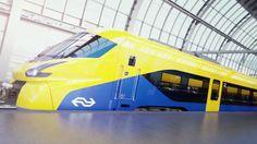 NH | Dit kan de nieuwe razendsnelle trein van de NS worden Transportation Technology, Railroad History, Corporate Identity Design, Electric Train, Electric Locomotive, Rolling Stock, Futuristic Design, Train Travel, Rotterdam