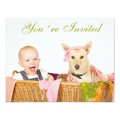 Dog Birthday Party Invitations You´re Invited Card