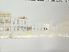 Facades of Dublin paper cut out exhibition at chq