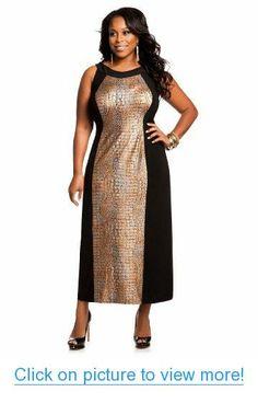 1a87dae4a8849 Ashley Stewart Women s Plus Size Metallic Maxi Dress
