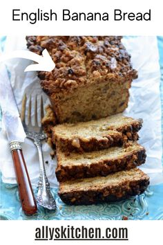 Yes, this English banana bread is the ultimate moist banana bread! It's crazy simple and easy to make. Be sure to double the recipe for one to share! #bananabread #englishbananabread Moist Banana Bread, Banana Bread Recipes, Homemade Desserts, Easy Desserts, My Favorite Food, Favorite Recipes, Sweet Bread, Sweet Recipes, Easy Recipes