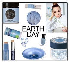 """""""Earth Day Essentials: All-Natural Beauty"""" by swimwearlover ❤ liked on Polyvore featuring beauty, L'Occitane, Moon Juice, Russell Organics, Kohler, The Seaweed Bath Co. and Deborah Lippmann"""
