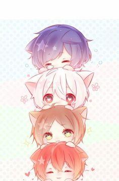 anime chibi Imagem de chibi and kawaii - anime Anime Neko, Cute Anime Chibi, Art Anime, Fanarts Anime, Anime Kunst, Cute Anime Guys, Anime Characters, Manga Anime, Loli Kawaii