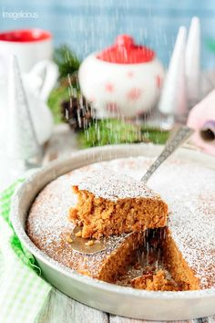 This Vegan Gingerbread Cake is perfect for breakfast with a mug of coffee or an afternoon snack with a cup of tea. It's deliciously spicy and soft and light. Easy one-bowl dessert that can be made even during the busiest holiday season | Imagelicious