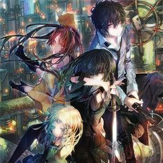 Black Bullet #3 - Playing Grounded Puzzles - 1000 piece puzzle for lovers of anime and manga art. Art by Saki Ukai.