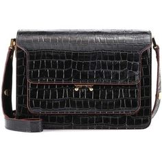 Marni Trunk Embossed Leather Shoulder Bag