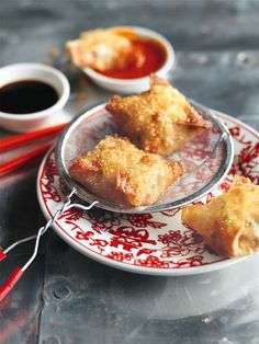 Crispy Crab and Ginger Dumplings | Donna Hay