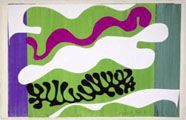 Henri Matisse / Jazz, The Lagoon, Plate XVIII),   around 1944  Gouache-painted paper cut-outs   stuck to paper mounted on canvas,   43.6 x 67.1 cm