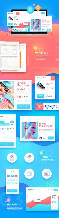 Eccomerce UI kit by NestStrix  #eccomerce #shop #shopping #app #web #uikit #ui #design #page #webdesign