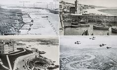English seaside postcards collected by German tourists before WW2 were used to plan the Nazi invasion of Britain. These postcards helped the German planners identify suitable beaches to land on and would help their troops recognize landmarks and targets. The images were contained alongside annotated maps of the UK in a series of booklets called Militargeographische Angaben uber England - Military Geographical information about England.