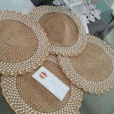 natural jute twine rope cord non polished gift wrap packaging eco friendly hemp yarn 100 g 55 – Artofit Crochet Art, Crochet Home, Crochet Doilies, Jute Crafts, Diy And Crafts, Crochet Placemat Patterns, Hemp Yarn, Lace Dream Catchers, Jute Twine