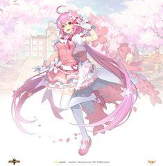 그랜드체이스 카페톡 Kawaii Anime Girl, Anime Art Girl, Manga Art, Female Character Design, Character Art, Cool Anime Pictures, Estilo Anime, Anime People, Anime Angel