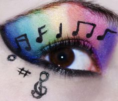 totaly me! I sing all day and I love rainbows I would die for this makeup