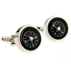 Funny And Practical Compass Cufflinks Travel Cufflinks