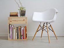 Simplistic end table & chair.