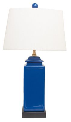 Blue Pagoda Jar Lamp