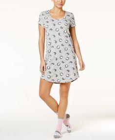Jenni by Jennifer Moore Printed Sleepshirt and Socks Set, Only at Macy's - Bras, Panties & Shapewear - Women - Macy's