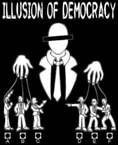 "It's all an illusion. One of my friends believe that the ""leaders"" of our government are just puppets run by the mafia."