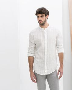 ZARA - MAN - SHIRT WITH CONCEALED BUTTONS 199