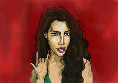 """an atempt to draw Lana del Rey in her music video for """"Ride"""""""