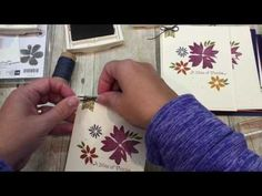 How to make one card 4 ways with Stampin UP's Blooms and Wishes Stamp Set - YouTube