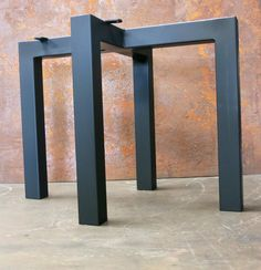 Diy Table Legs, Metal Table Legs, Plastic Caps, Steel Table, Modern Table, Stool, Dining Table, Contemporary, Welding