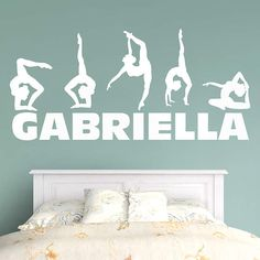 Gymnastics Personalized Name. Sports Wall DecalsVinyl ...