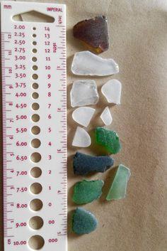 Genuine Irish seaglass pieces found on Irish coast.(4) by terramor on Etsy